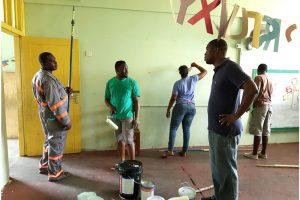 Marriaqua Gov't  School Kindergarden class gets upgrade