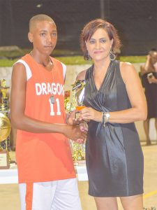 Nicholas  Lewis reels off another MVP  Basketball award