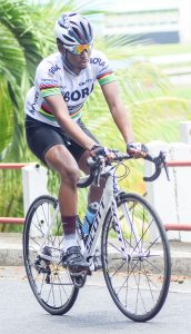 Martin Bollers tastes victory in cycling race