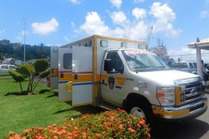 Consul General Fitz Huggins hands over  refurbished ambulance