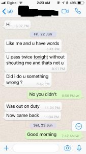 Whatsapp Messages suggest Close Relationship between Commissioner and Constable