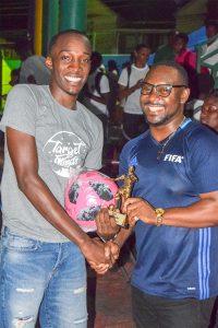 Laborde pouches  SVGCC's  divisional football  MVP title